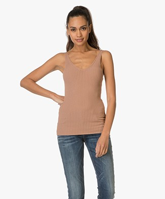 Drykorn Minka Top in Rib - Blush