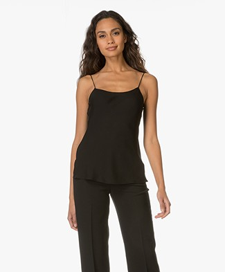 Theory Teah Silk Top - Black