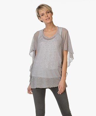 BRAEZ Top with Butterfly Sleeves - Stone