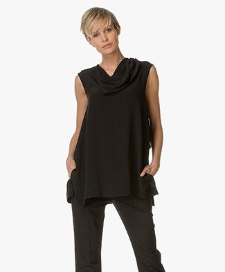 Sportmax Nalut Top with Frill - Black