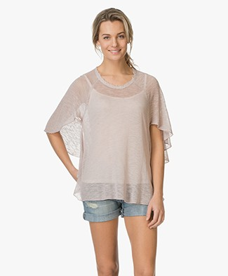 BRAEZ Top with Butterfly Sleeves - Mud