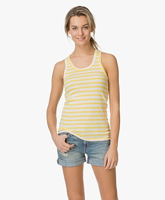 Petit Bateau Striped Top - Yellow/Off-white