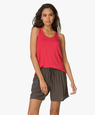 Majestic Tank Top in Viscose Jersey - Cherry