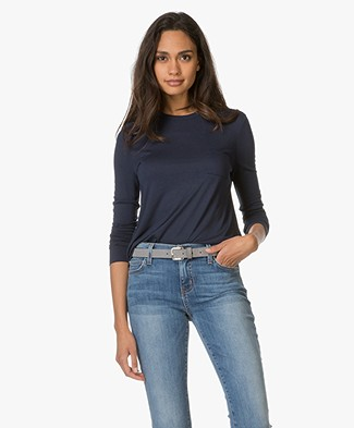 T by Alexander Wang Long Sleeve with Chest Pocket - Indigo