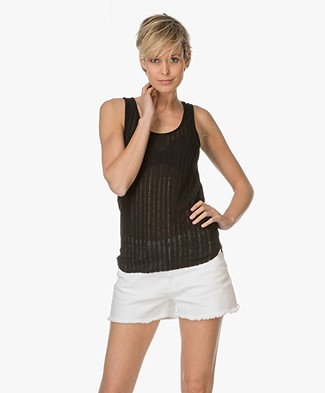 Denham Compass Tank Top - Cinder Black