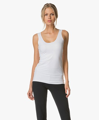 JapanTKY Iyo Round Neck Tank Top - White