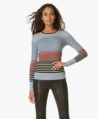 Theory Mirzi T-shirt - Ocean Blue Stripe