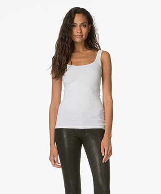 Theory Body-skimming Tank Top Len - White