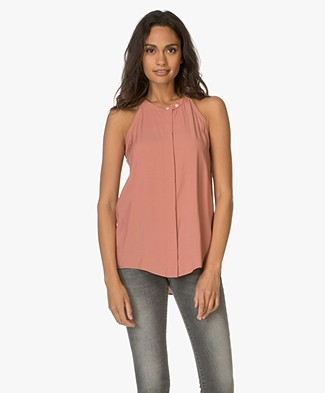 Closed Mouwloze Blouse - Blush