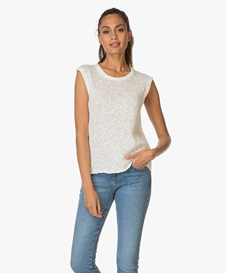 James Perse Web Gebreide Tanktop - Off-white