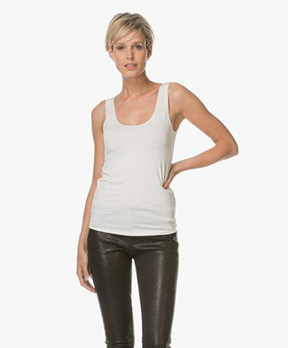 Majestic Viscose Jersey Tank Top - Milk
