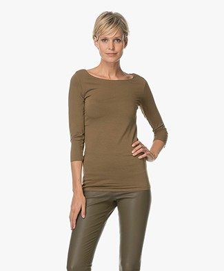 Majestic Soft Touch Jersey T-shirt - Khaki