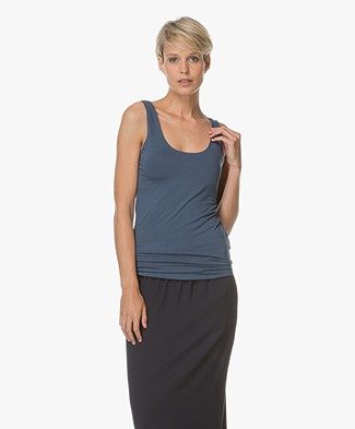 Majestic Viscose Jersey Tank Top - Denim