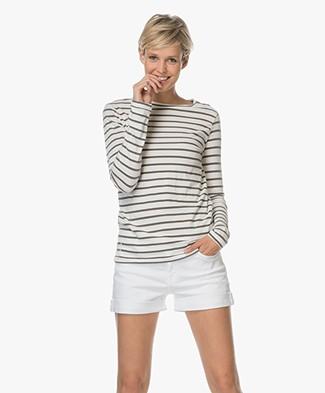 Ragdoll LA Striped Long Sleeve - Black/Off-white