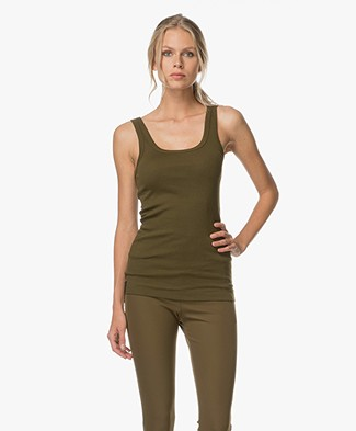 By Malene Birger Ribbed Tank Top Newdawn - Hunter