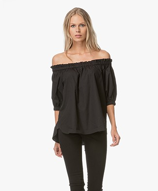 FWSS Young Offenders Off-shoulder Top - Jet Black