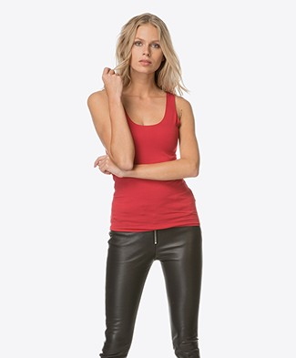 Majestic Viscose Jersey Tank Top - Red