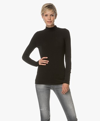 Closed Jersey Turtleneck - Black