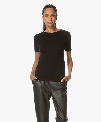 Theory Tolleree Cashmere Top - Black