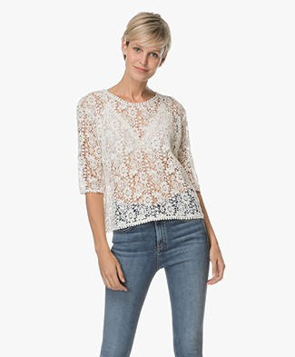 Ragdoll LA Lace Crochet Shirt - Off-white