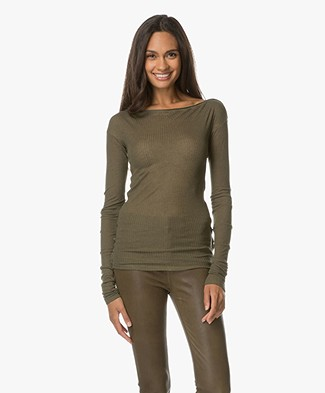 Rag & Bone Madison Long Sleeve - Army