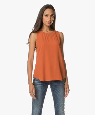 Theory Zabetha Silk Top - Pale Marmalade