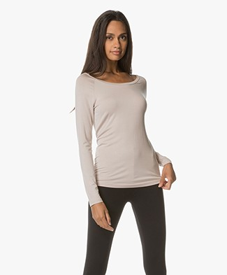 no man's land Longsleeve met Boothals - Soft Blush