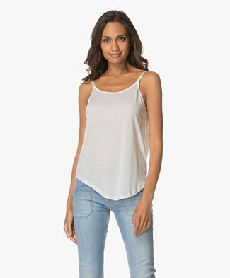 ba&sh Alda Top with V-back - Ecru