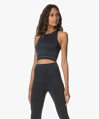 Filippa K Soft Sport Seamless Crop Top - Night Sky