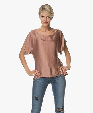 Drykorn Somia Cupro Blouse - Blush