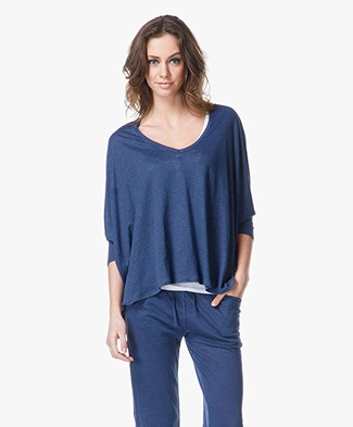Majestic Linen Dolman Top