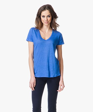 Majestic Linen V-Neck T-shirt