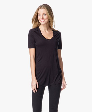 T by Alexander Wang Classic Tee with Pocket - Zwart