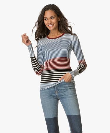 Theory mirzi t shirt ocean blue stripe mirzi for Ocean blue t shirt
