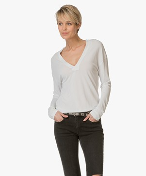 Filippa K Deep V-neck Jersey Top