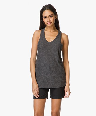 T by Alexander Wang Classic Slub Tank Top - Charcoal