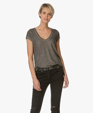 Zadig et Voltaire Tiny Lame T-Shirt - Grey