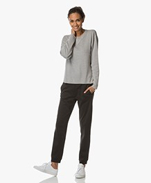 Filippa K Sporty Knit Cashmere Sweater - Grijs Mêlee