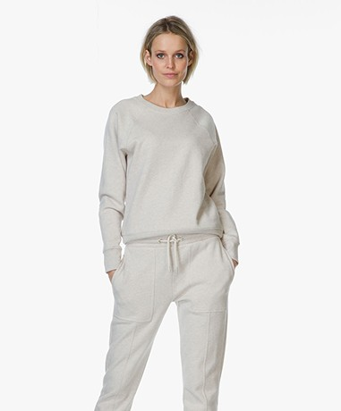 Filippa K Katoen-Cashmere Sweater - Pebble Mêlee