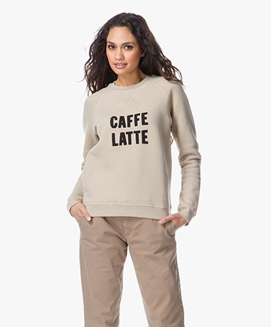 Anecdote Belle Embroidered Sweater - Caffe Latte