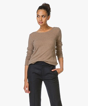 Majestic Cashmere Long Sleeve Pullover