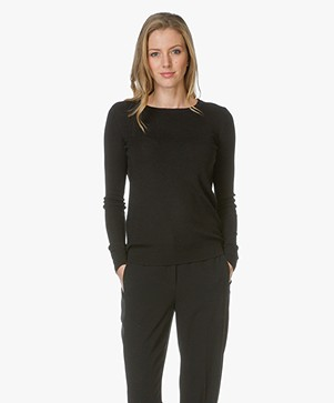 Diane von Furstenberg Sweater Kylee with Cut-out Back - Black