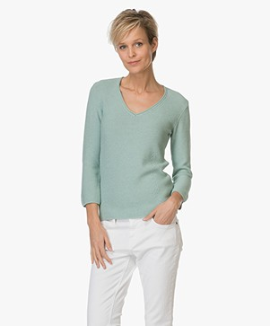 Belluna Paradise Medium Gebreide Sweater - Verde Mélange