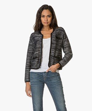 Rag & Bone Rosalie Sweater Jacket - Off-white/Zwart