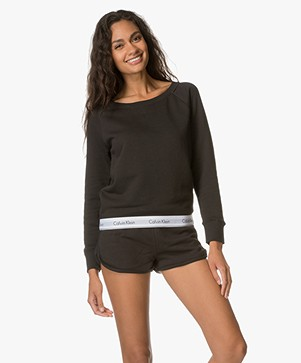 Calvin Klein Modern Cotton Sweater - Zwart
