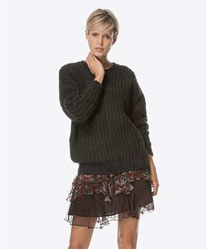 IRO York Chunky Knitted Pullover - Anthracite