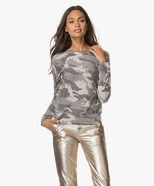 Zadig et Voltaire Camouflage Cashmere Pullover - Neige