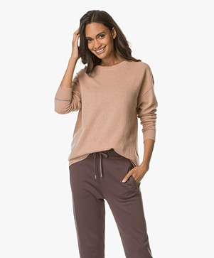 Filippa K Oversized Cashmere Sweater - Blush Mêlee