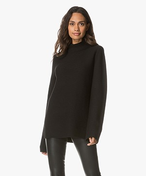 no man's land Rib Knitted Turtleneck Pullover - Core Black