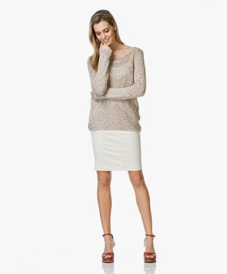 Repeat Crochet Knitted Sweater - Gloss